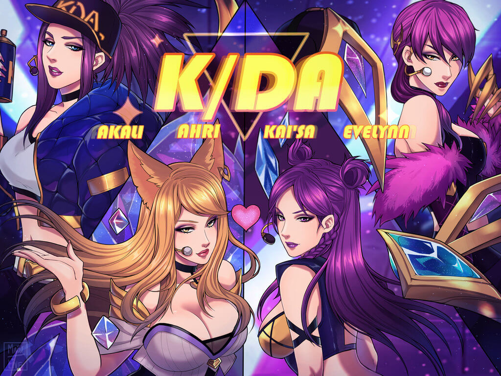 new skins KDA